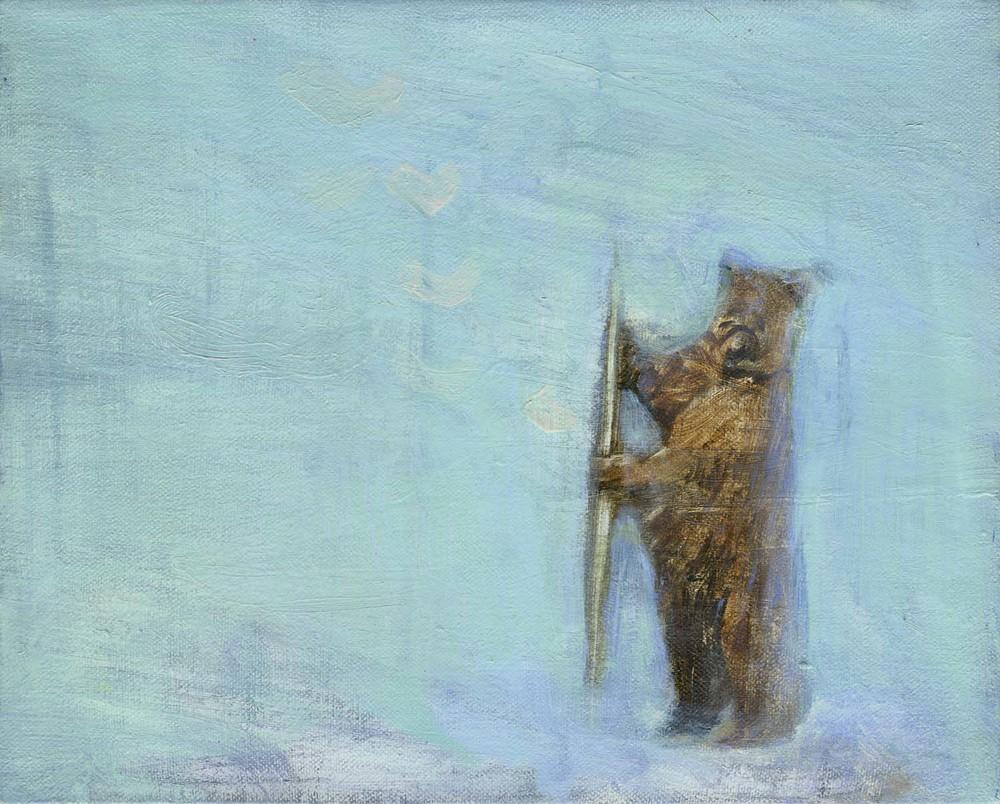 Wandering Bear  2008 25 x 30cm, oil on canvas