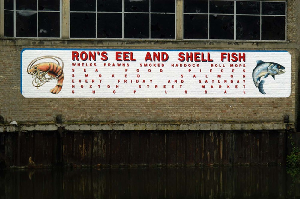Ron's Eel and Shell Fish  2006, off-site installation by Regent's Canal