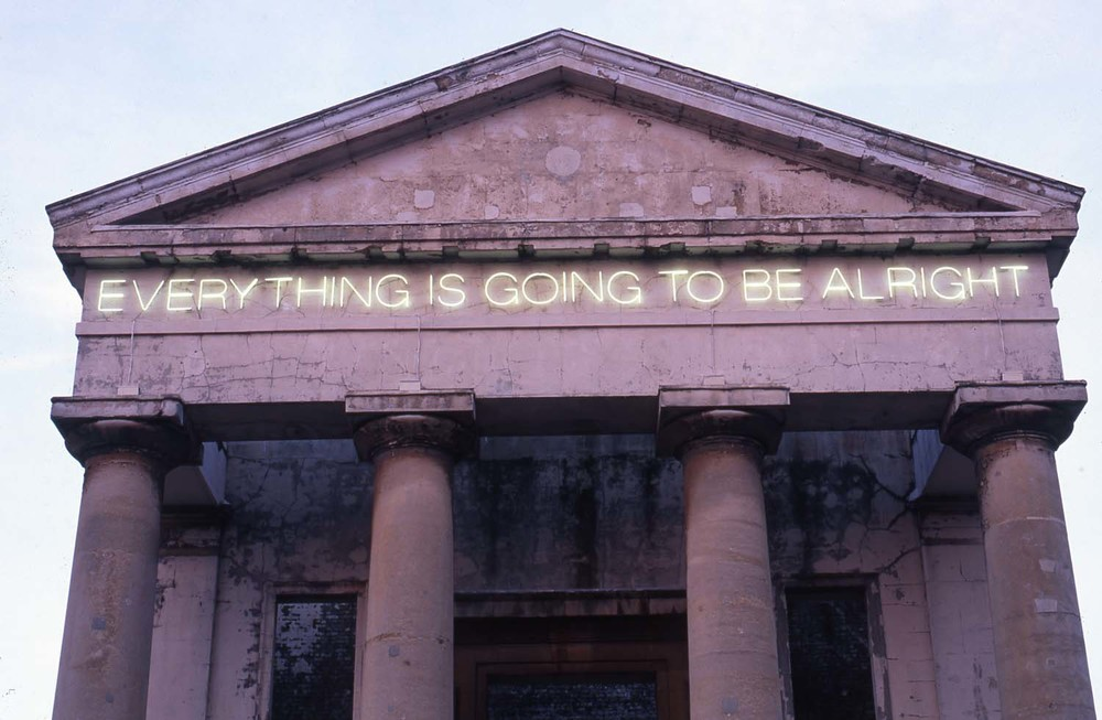 Work No 203, Everything is Going to be Alright (detail) 1999