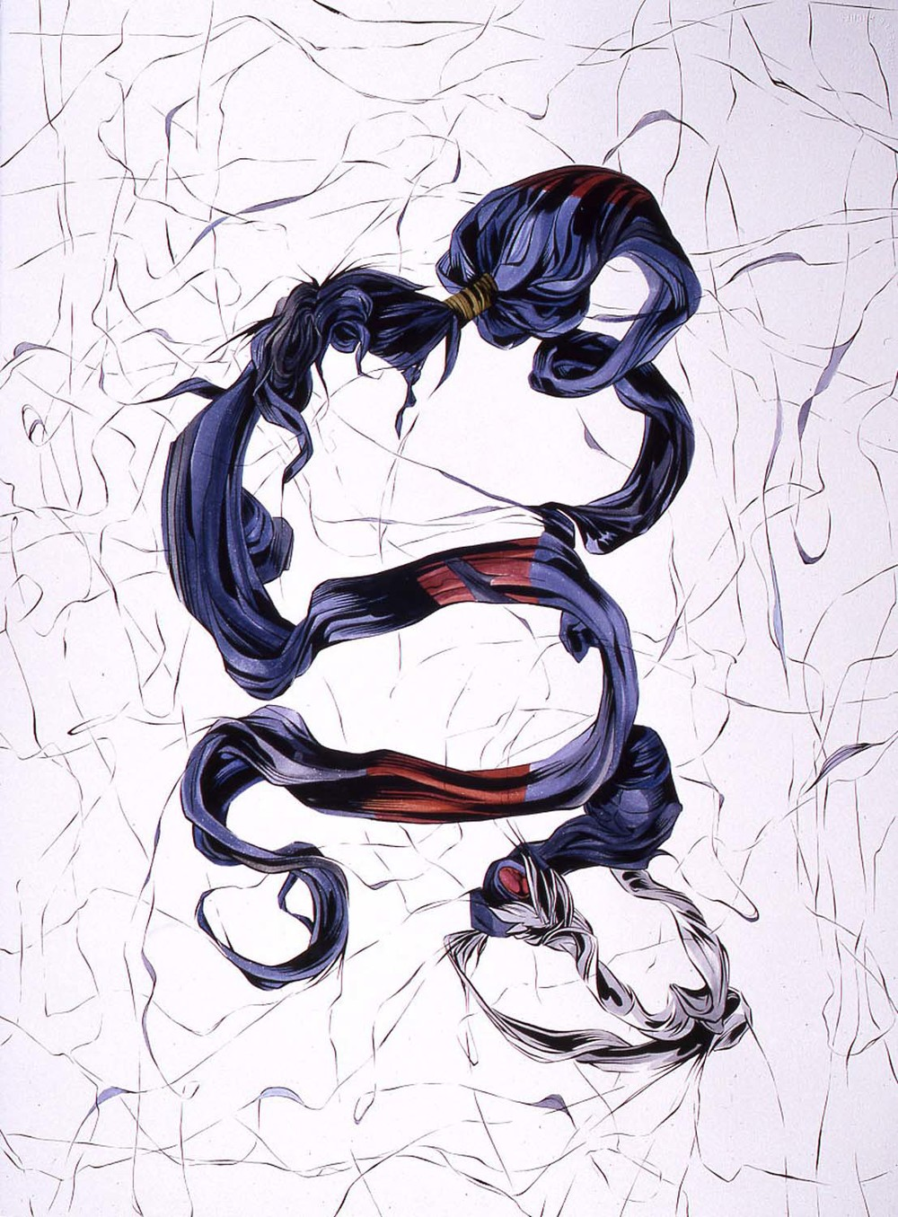 Widow  2004, gouache on paper, 76 x 57cm