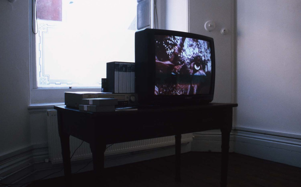 Installation shots of The Hundred Videos at Soho House