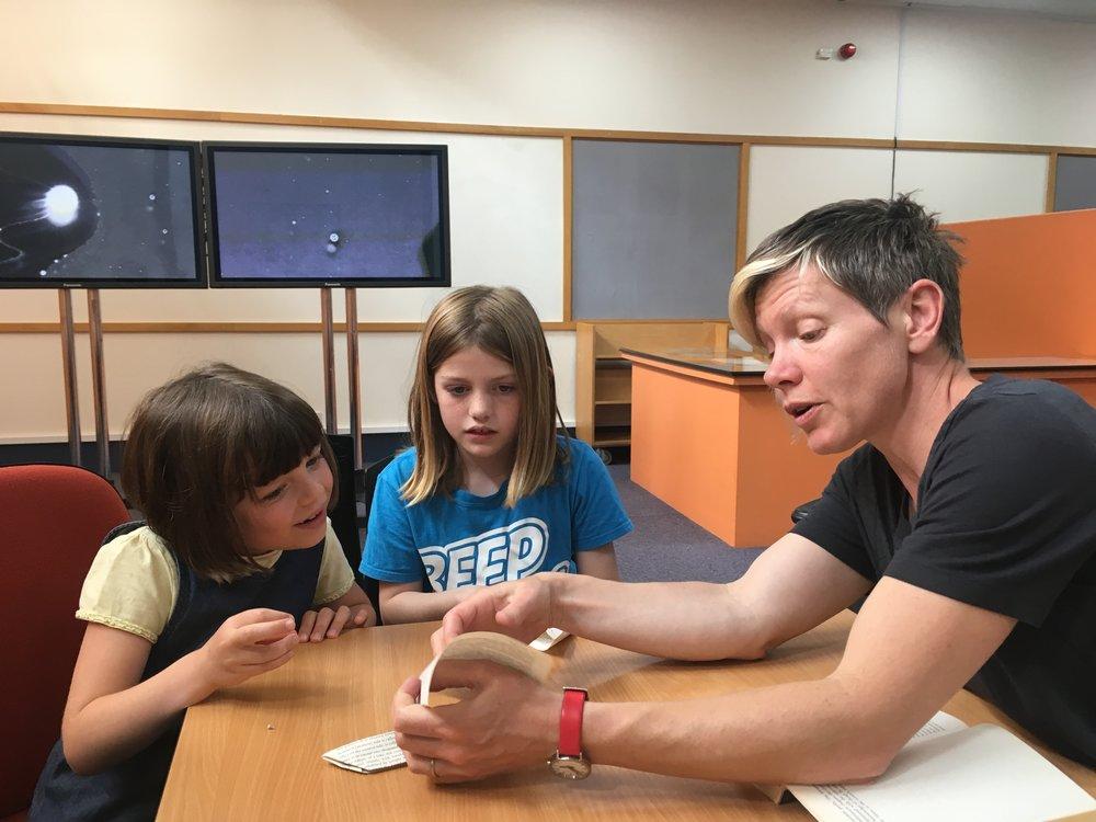 Abigail Reynolds' origami workshop at Shoreditch Library