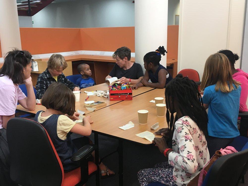 Abigail Reynolds origami workshop