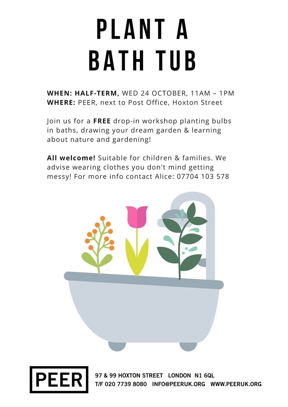 Poster for plant a bath tub workshop