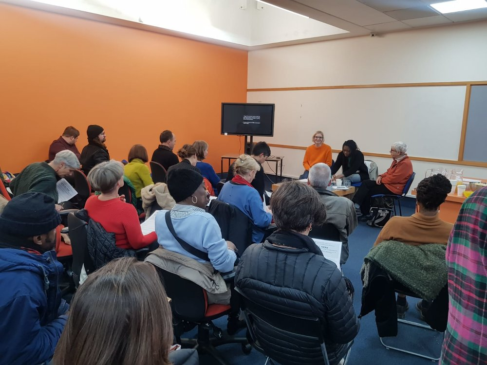 Talk at Shoreditch Library with Ayo Akingbade and Joy Chamberlain from Newsreel Collective
