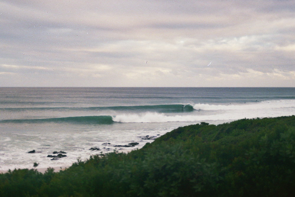 Supertubes, Jeffreys Bay - Winter, 2018  Shot on 35mm