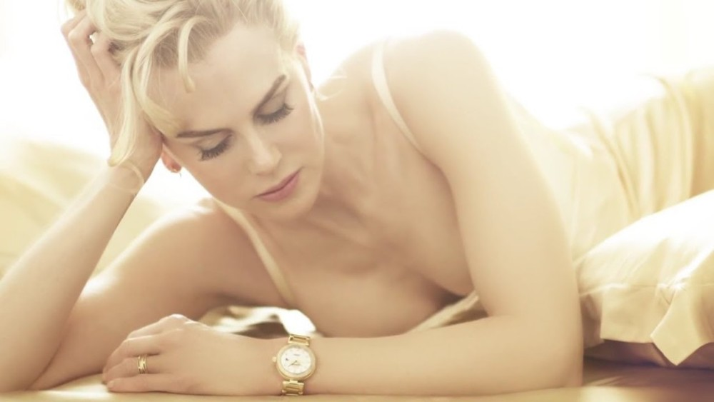 "Omega Commercial with Nicole Kidman. The brand promise is ""peace"" and ""the good life"", something that buying a thirty thousand dollar timepiece cannot actually deliver."
