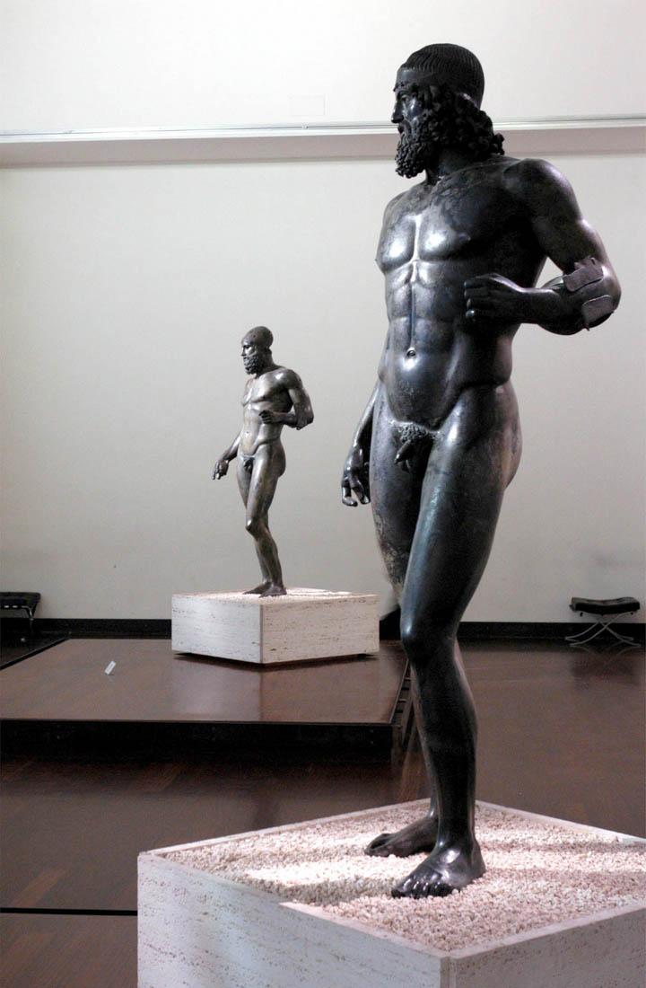 The Riace Bronzes inMuseo Nazionale della Magna Greciam, Reggio Calabria, Italy.
