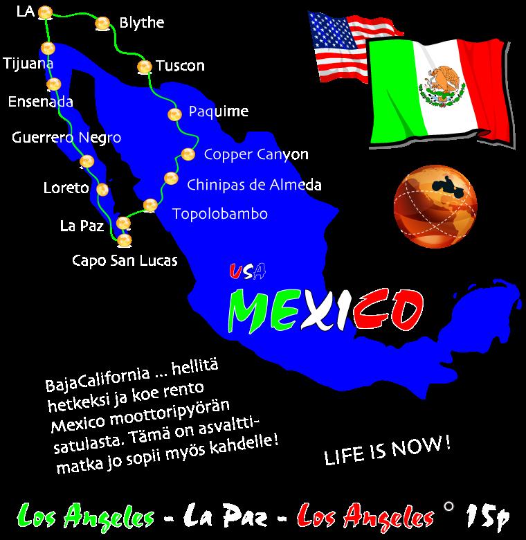 #moottoripyörämatka meksiko