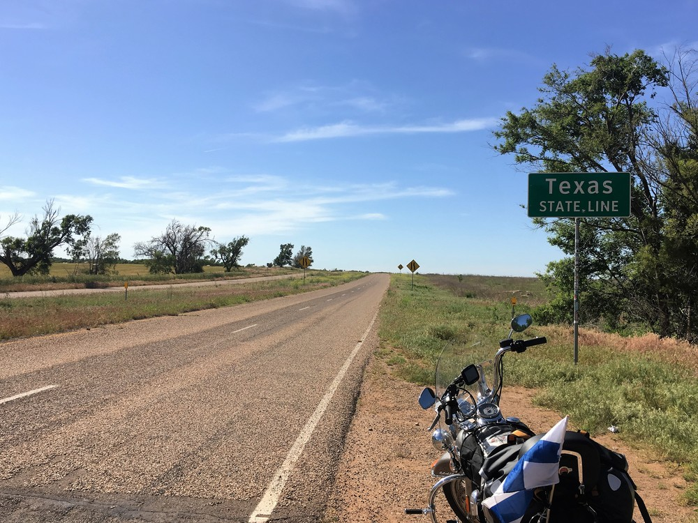 Texasin ja Oklahoman rajalla, Route 66 varrella!