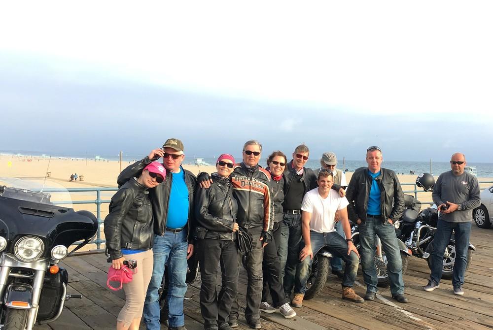 Saavuttiin Santa Monica Pierille - klo 18.32 | 19.05.2016