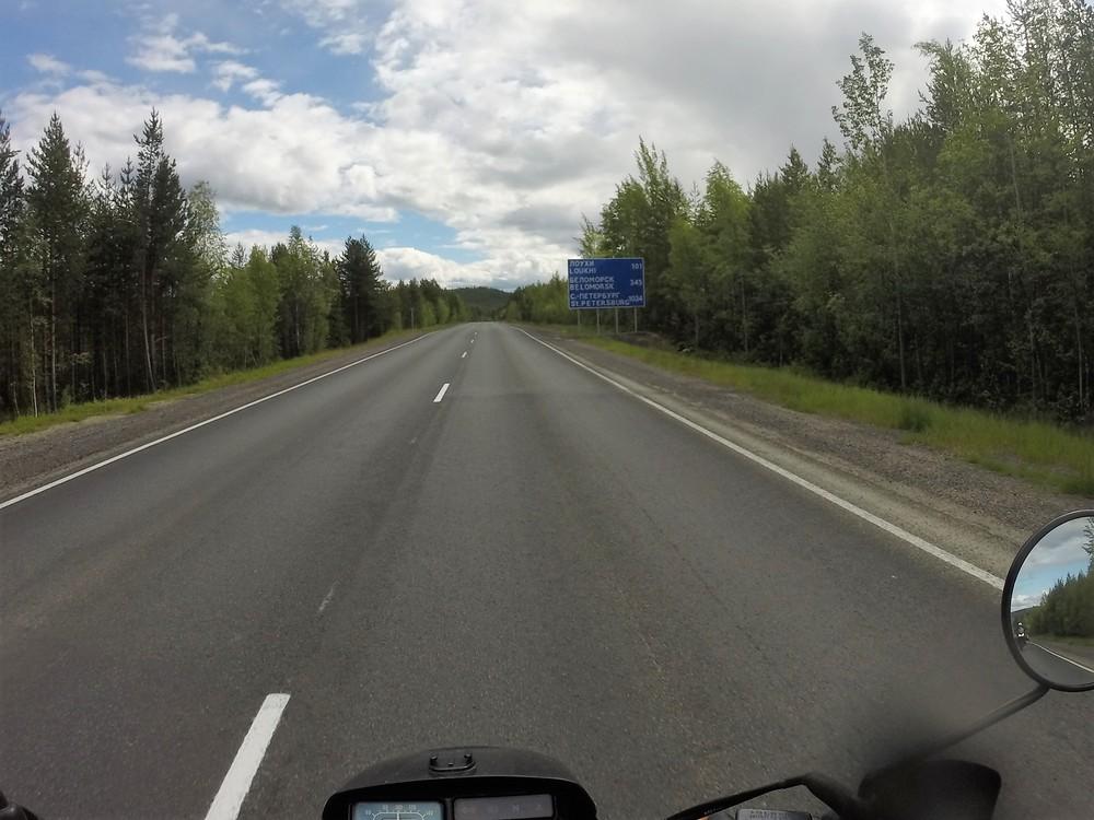 Vielä yli 1000 kilometriä Pietariin!