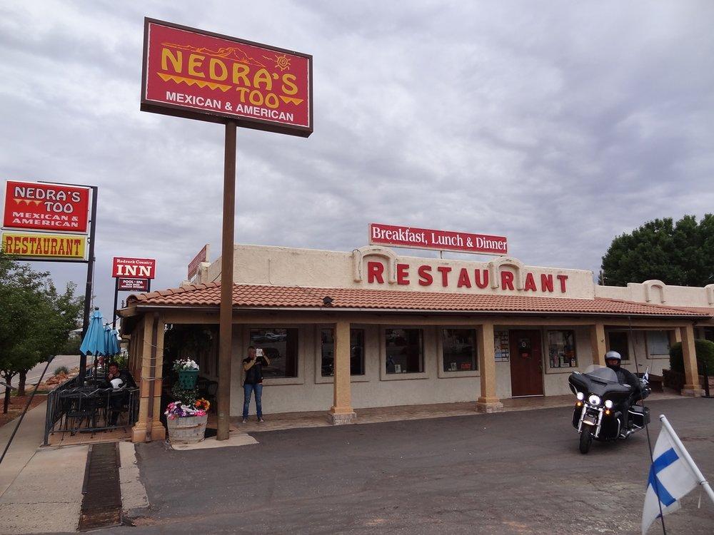 Tällä kertaa emme ottaneet riskejä aamiaisen suhteen vaan suunnistimme jo hyväksi todettuun Nedra's Too Mexican & American Restaurantiin, josta olimme juuri lähteneet vatsat pullollaan vain alle puoli vuorokautta aiemmin.