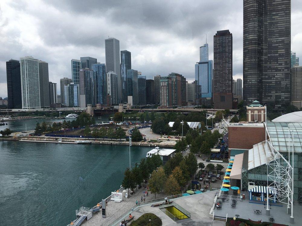 Chicagoa Centennial Wheelistä käsin.