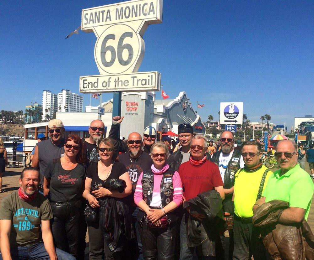 Tähän päättyy Route 66. Olo on huojentunut ja hymy herkässä :)