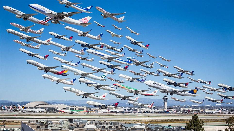LAX Los Angeles on kohtuullisen vilkas lentokenttä...;)