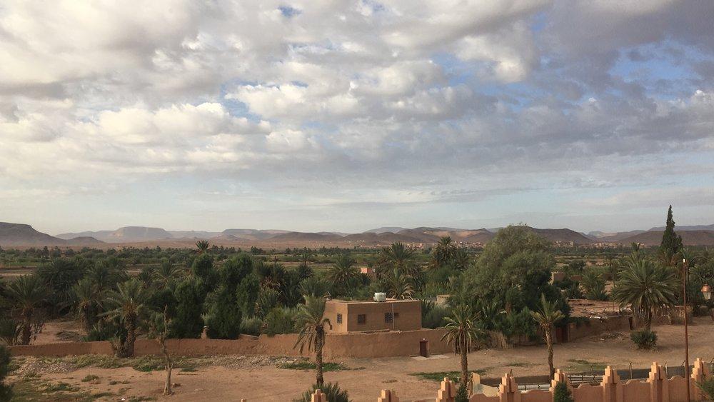 Näkymät aamulla hotellin ikkunasta...