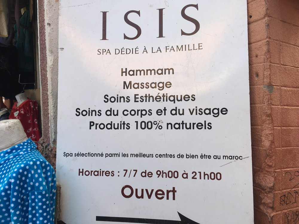 """Nimestä huolimatta """"ISIS"""" hamam oli hieno paikka rentoutua :)"""