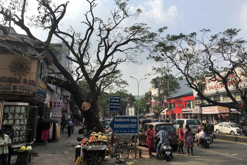 Yksi Chennain pääkaduista...