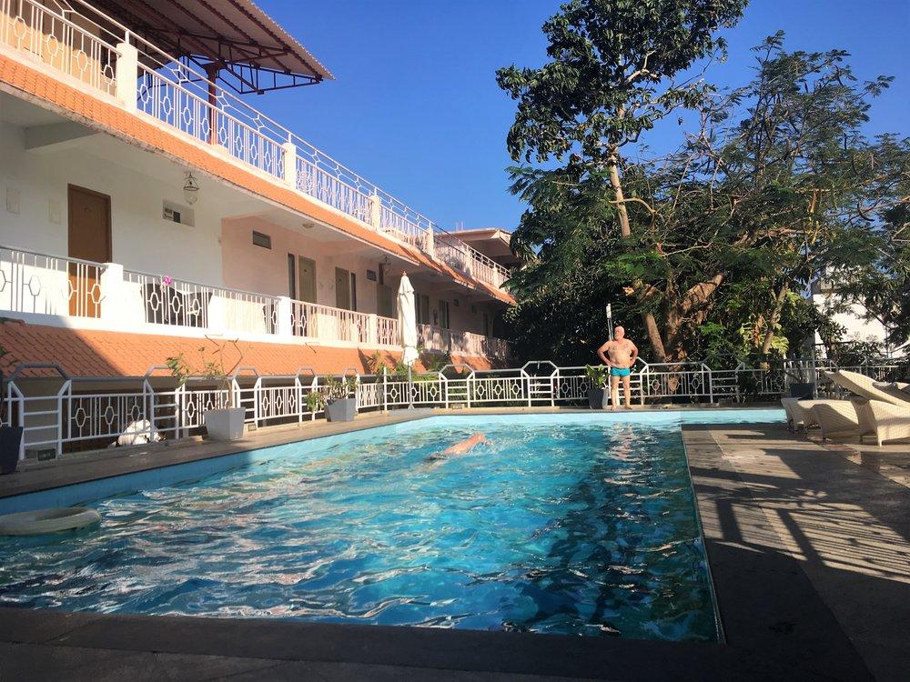 Mammala Heritage hotelli oli kuin oasis keskellä Intian sekamelska...
