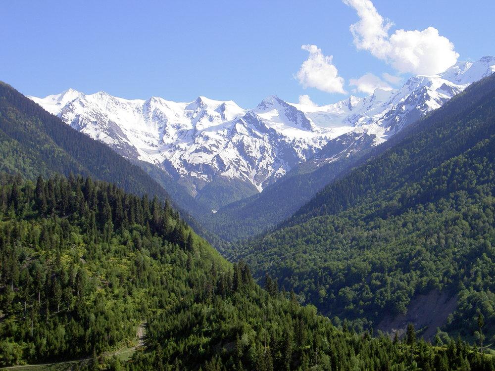 Georgian vuoristomaisemat.