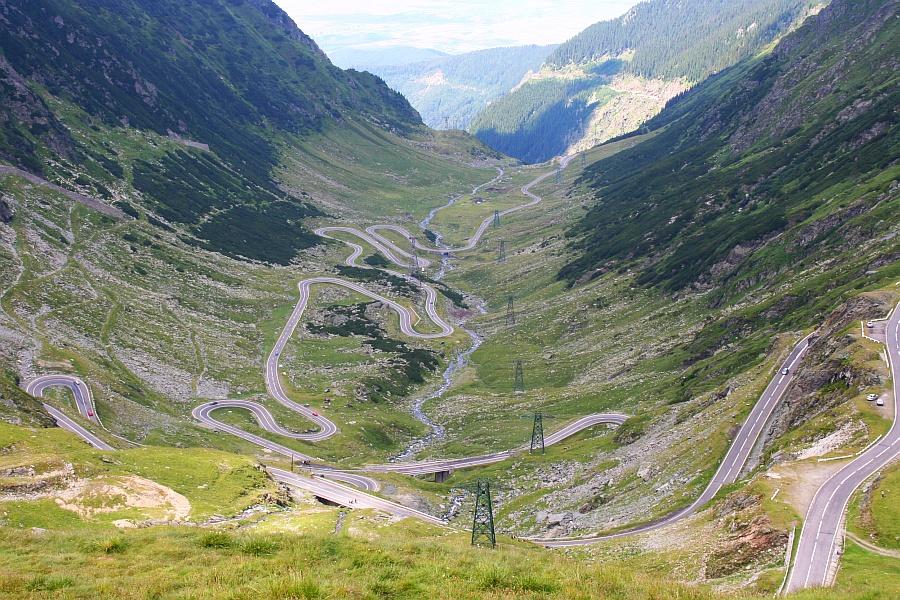 Transfagarasanin tie Romaniassa