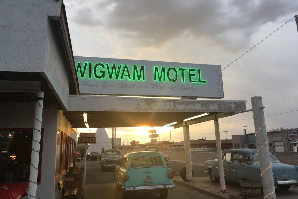 Kuuluisa Wigwam motelli Holbrook, Arizonassa