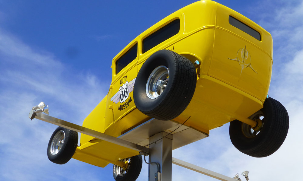 Santa Rosa, New Meksiko - todella makea automuseo