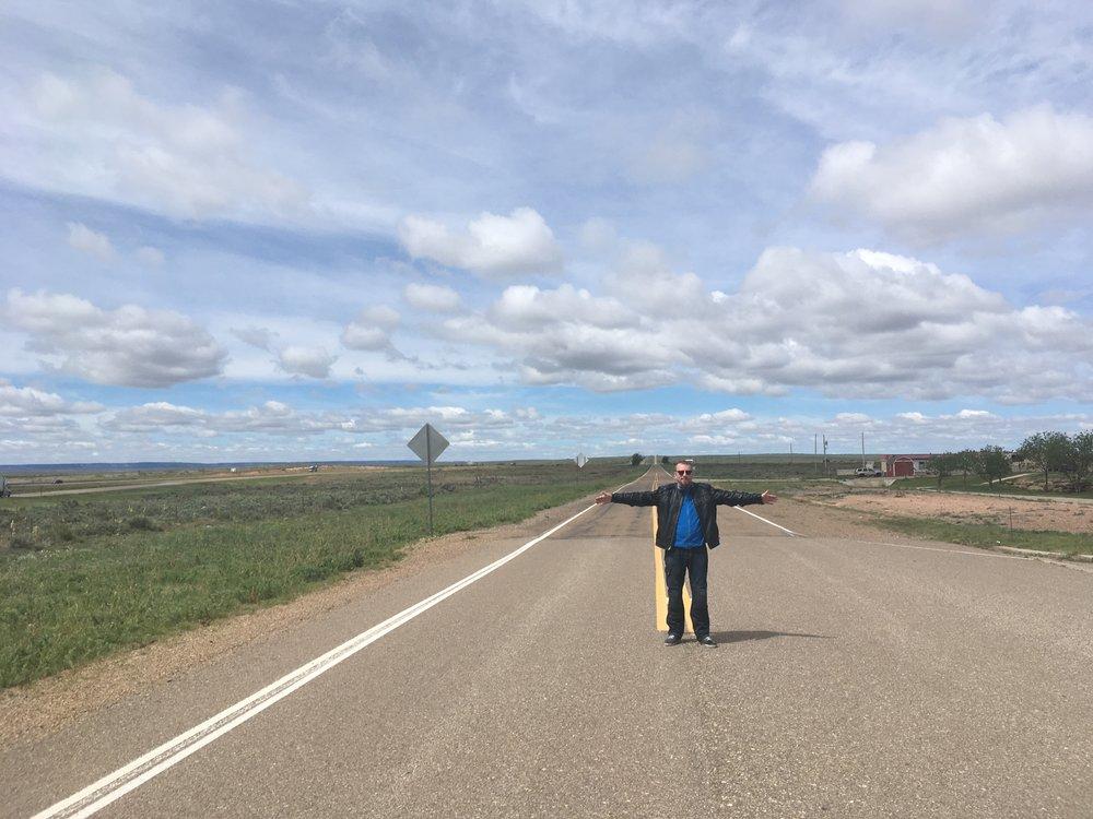 Lauri keskellä 66'sta New Mexicon rajalla. Liikenne aika vähäistä ja tilaa riittää :)
