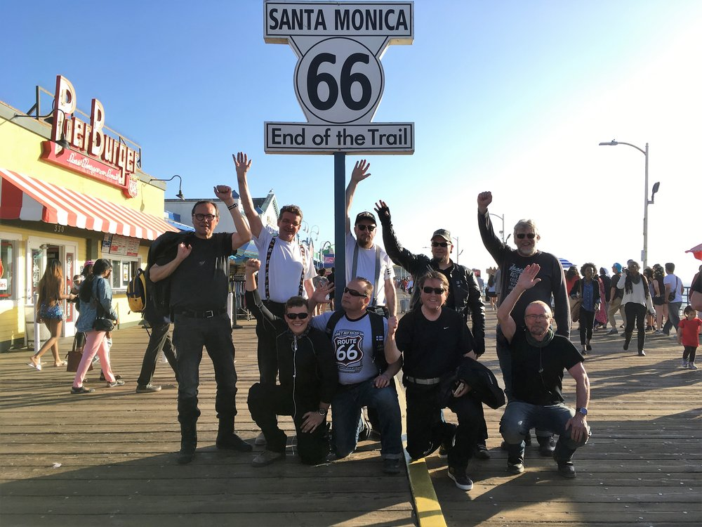 Route 66'sen päätös kyltti.