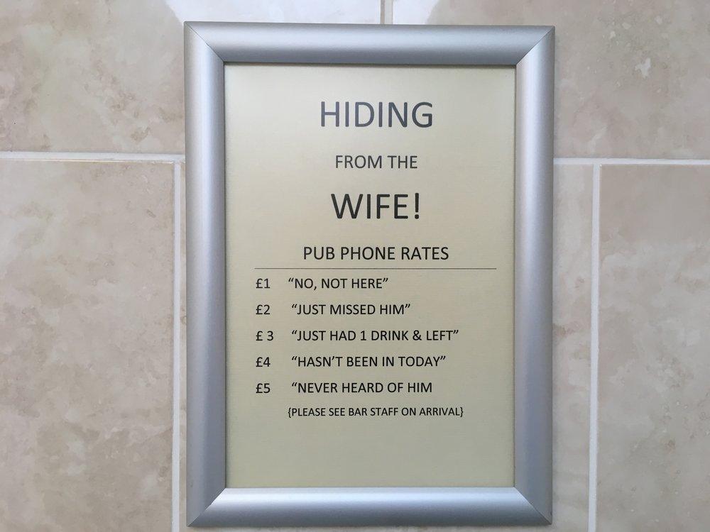 Hinnasto jos vaimo soittaa! :)