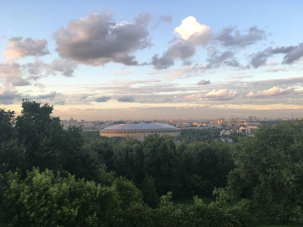 Vorobievy Gory on kukkula Moskovassa joka on paikallisten baikkereiden suosiossa.