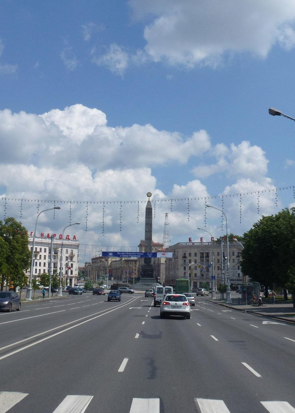 Minsk on edelläkävijä. Kaupunkiin rakennettiin leväet kadut jo hevosvaljakoiden aikaan!