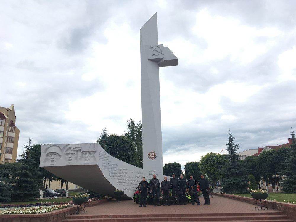 Muistomerkki sodassa kaatuneiden kunniaksi Orshan keskustassa...