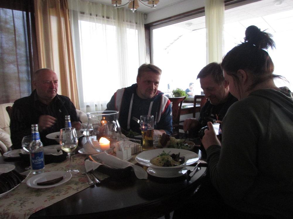 Ruoka oli hyvää ja sitä oli tällä reissulla todellakin riittävästi!