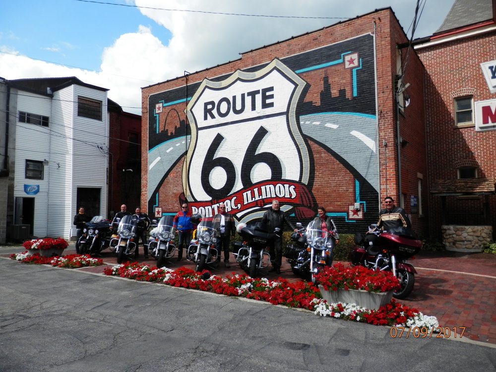 Route66 museon pihassa Pontiacissa.