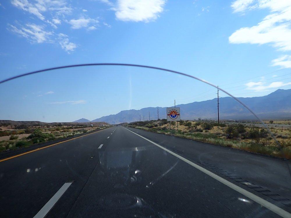 Osavaltio vaihtuu Nevadasta Arizonaksi