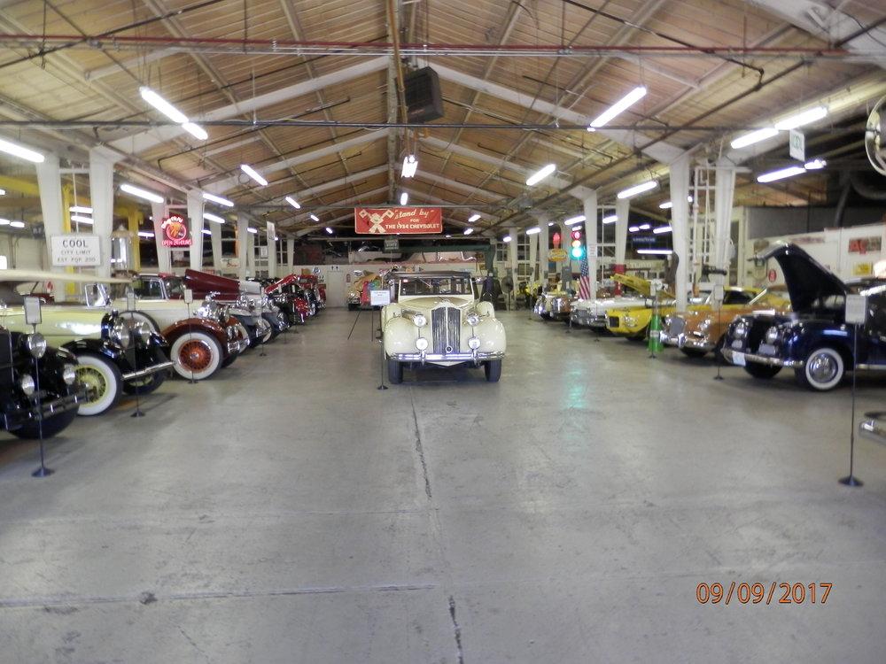 Automuseo on avattu viime vuonna lokakuussa, joten tämä saattoi olla PeterPanBiken ensimmäinen ryhmä, joka kävi tutustumassa uuteen museoon