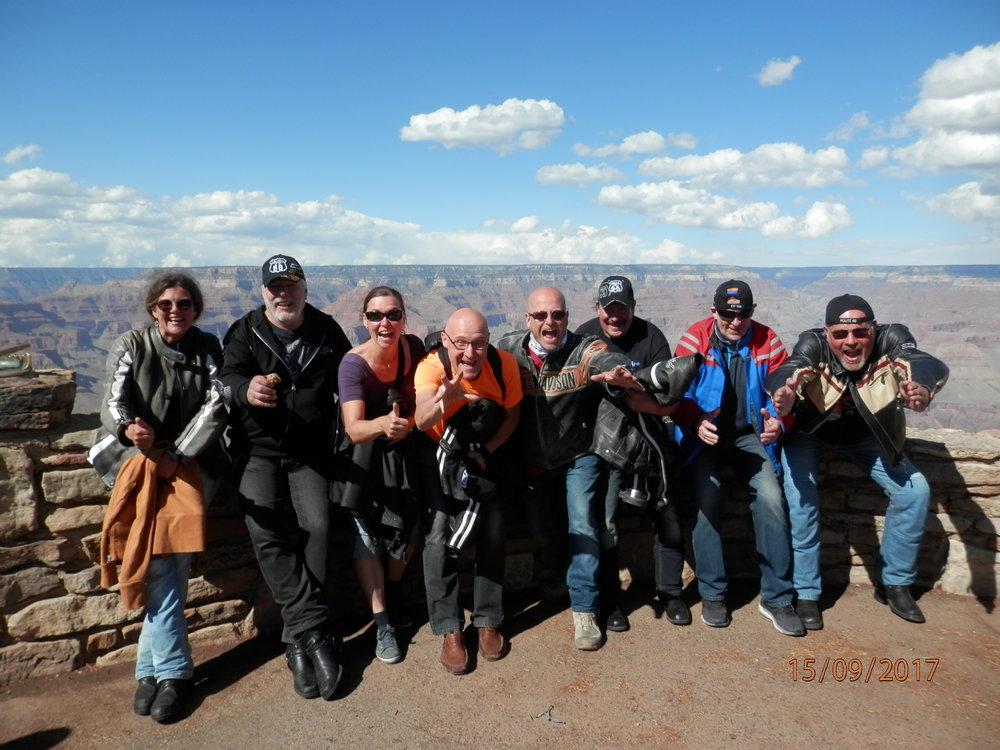 Tämän ryhmän mielestä Grand Canyon on tähän mennessä sykähdyttänuy eniten.