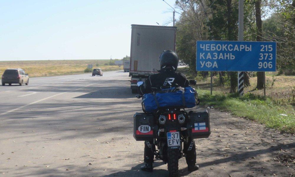 Volgan etelä-puolella!