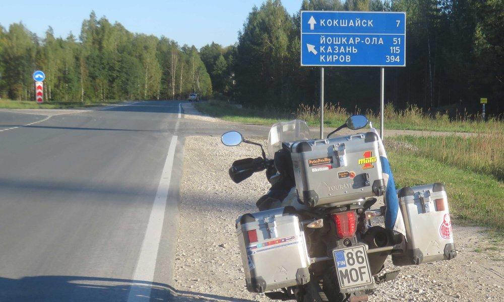 Volgan pohjoispuolella!
