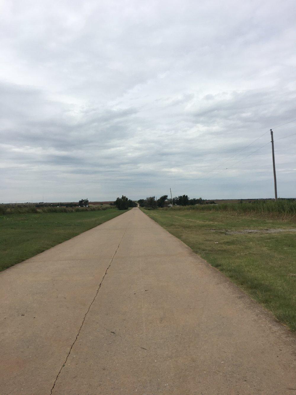 Tältä näyttää vanha route Oklahomassa.