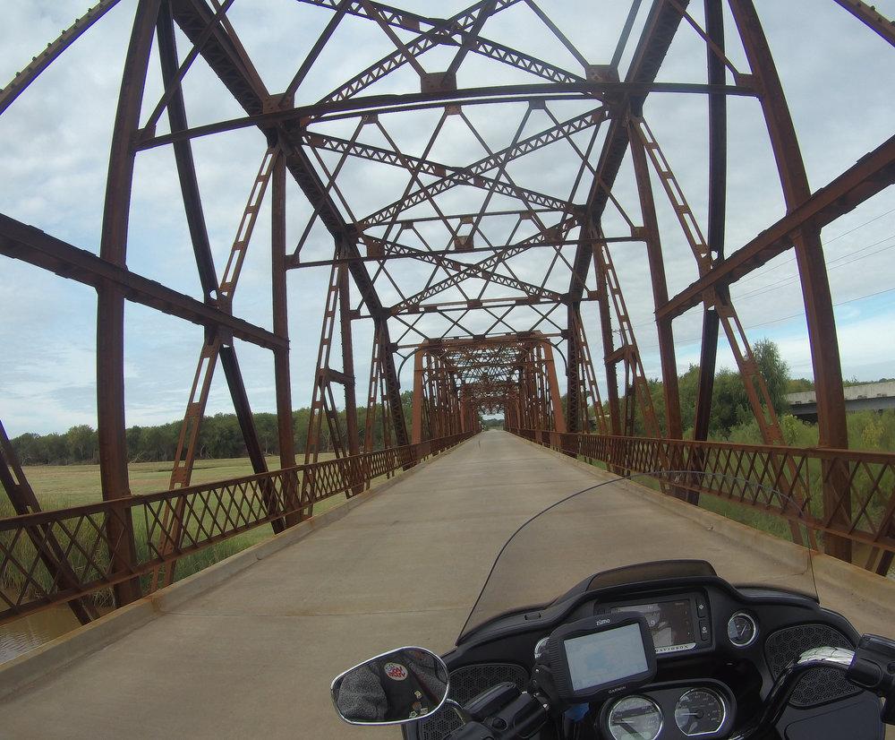 Vanha silta Oklahomassa.