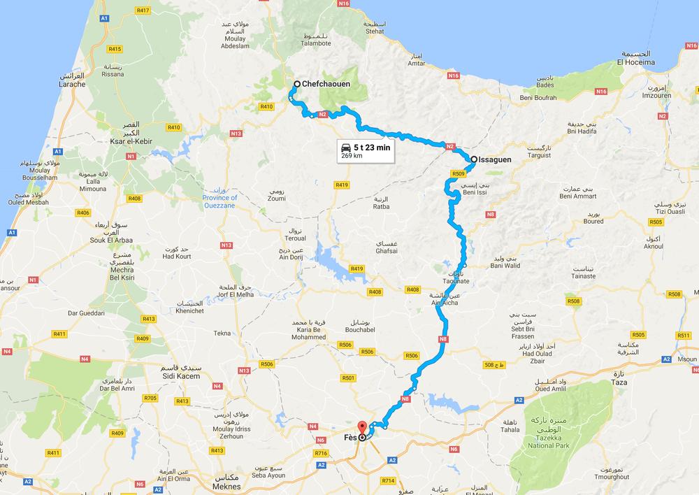 Tänään luvassa kilometreissä rento päivä. Mutkia ei kuitenkaan näistä kilometreistä puutu! Ja päättärinä toimii yksi Marokon vanhimmista kaupungeista - Fes.