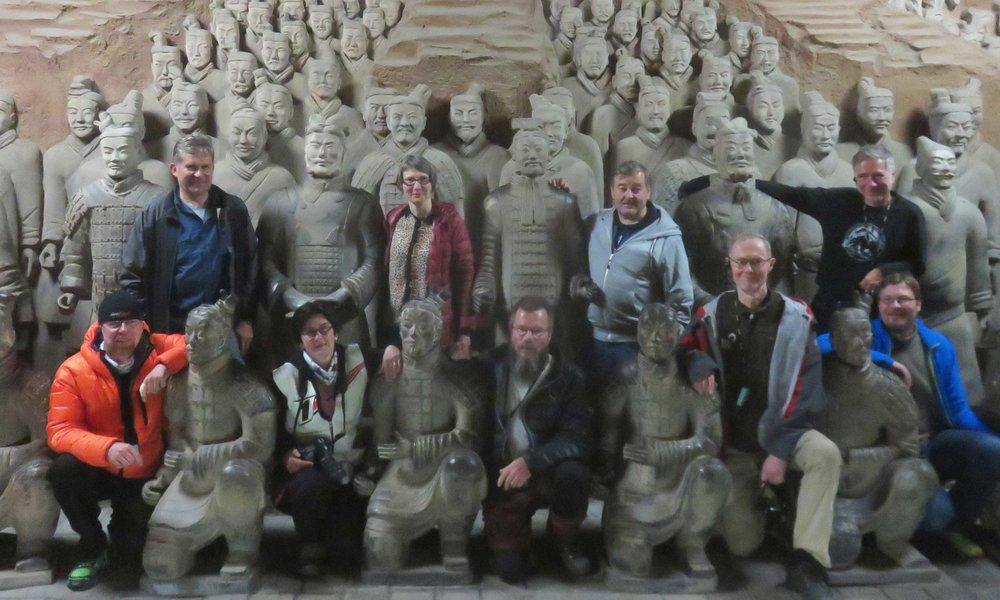 Terracotta warriors & Motorcycle warriors! :]