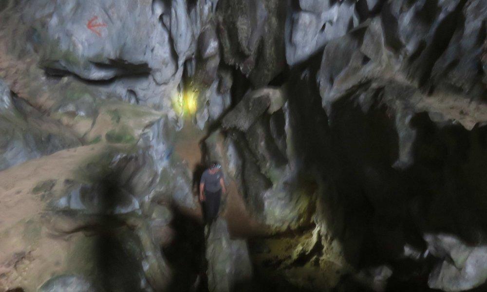 Turisti luolassa!