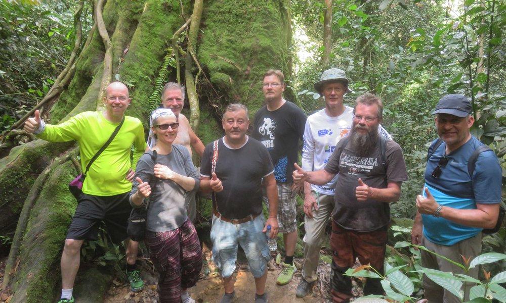 Orang Motor -ryhmä sademetsässä!