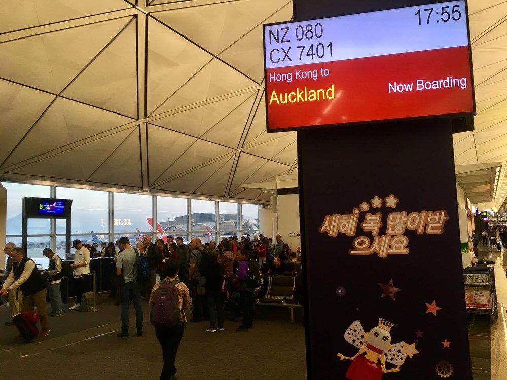Ja noin 9000 lento Aucklandiin heti perään :)