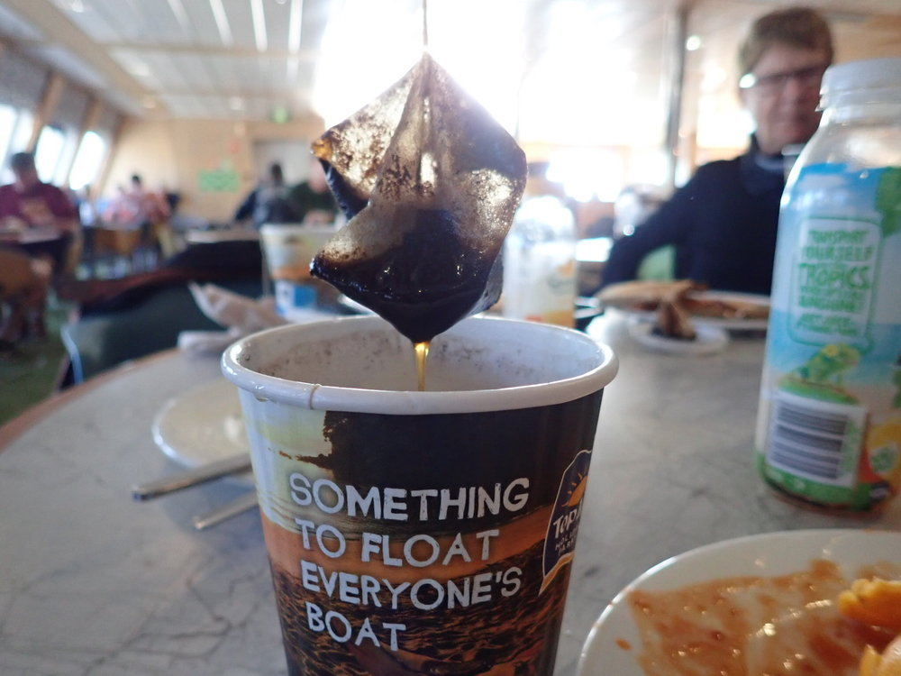 Maailma ei lakka ihmetyttämästä - pussikahvia?!