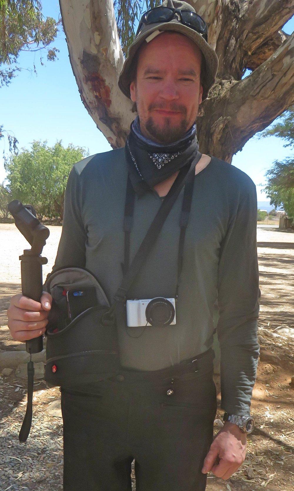 Turisti valmiina ottamaan kuvan!